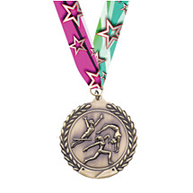 Small Gymnastics - Female - Laurel Wreath Gymnast Medal