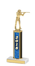 "10-12"" 2018 Round Column Dated Gold Trophy"