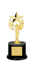 """8"""" Black Acrylic All Star Trophy"""