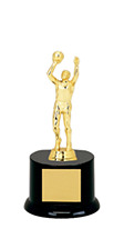 "Basketball Trophy - DINN DEAL! 8"" Black Acrylic Basketball All Star Trophy"