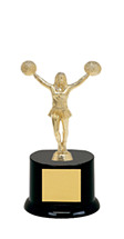 "All Star Cheer Trophy - 8"" Black Acrylic Base"