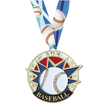 Baseball Medal - Colorful Baseball Medal