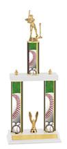 "Baseball Trophy - 18-20"" Three Column Trophy"