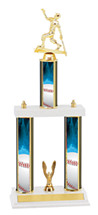"Baseball Trophy - 18-20"" Three Column Trophy"