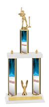 Baseball Trophy - Three Column Trophy