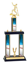 Baseball Trophy - Three Column Trophy