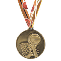 Sale - Basketball Medal with Neck Ribbon - While Supplies Last!