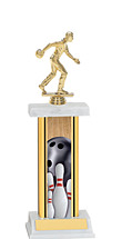 "Bowling Trophy - 12-14"" Rectangular Trophy"