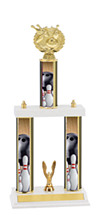 "Bowling Trophy - 18-20"" Double Column Trophy"