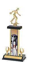Bowling Trophy - 2 Eagle Column Trophy