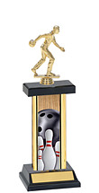 Bowling Trophy - Rectangular Trophy