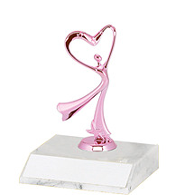 DINN DEAL! Dance Trophy with Pink Figure