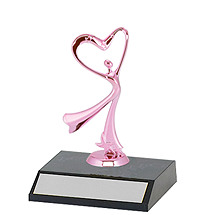 "DINN DEAL! 5 1/2"" Trophy with Pink Figure"