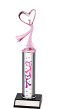 Dance Trophy - Dazzling Pink Dance Trophy
