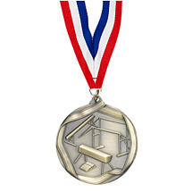 Gold Female Gymnastics Medal