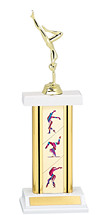 Gymnastics Trophy - Rectangular Column Gymnast Trophy