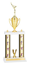 "18-20"" Double Column Gymnastics Trophy"