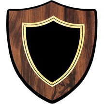 Shield-Shaped Plaque