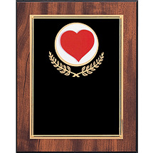 "8 x 10 - 9 x 12"" Black Brass Plaque"