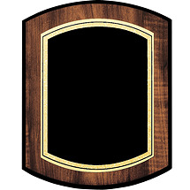 "7 x 9 - 9 x 12"" Black Brass Plaque with Double-Dome Shape"