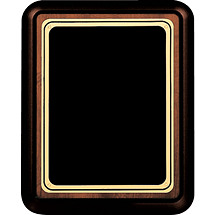 "7 x 9 - 9 x 12"" Black Brass Plaque w/ Rounded Corners"