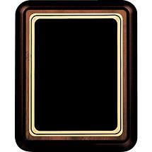 """7 x 9 - 9 x 12"""" Black Brass Plaque w/ Rounded Corners"""
