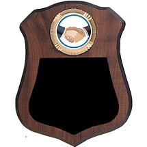 "6 1/2 x 8"" Tear Drop Shield Plaque"
