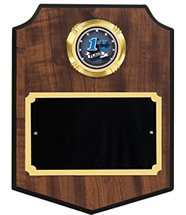 Modern Shield Emblem Plaque