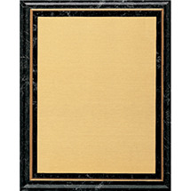 "7 x 9 - 9 x 12"" Black Marble-Tone Plaque"