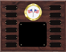 Monthly Perpetual Plaque with Emblem