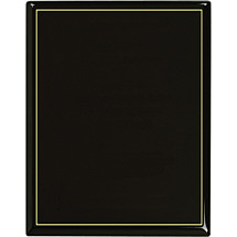 "7 x 9 - 9 x 12"" Ebony High Gloss Plaque"