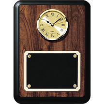 "9 x 12"" Rounded Corner Clock Plaque"