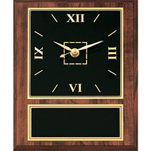 "8 x 10"" Contemporary Black Brass Clock Plaque"