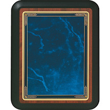 "Medium 8 x 10"" Topaz Blue Rounded Corner Plaque"