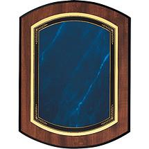 """Large Topaz Blue 9 x 12"""" Double-Dome Plaque"""