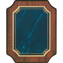 "Topaz Blue 8 x 10"" Half Moon Corners Plaque"