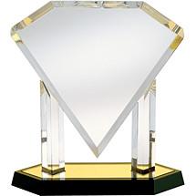 "12"" Acrylic ""Diamond"" Award"