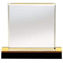 "4 x 3 1/4 - 6 x 6 1/2"" Beveled Edge Acrylic Award"