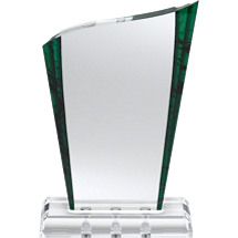 "5 1/2 x 8 1/2"" Green Marbleized Award with Magnetic Fasteners"