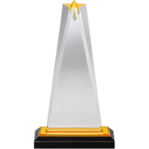 "5 x 8 3/4"" Sleek and Slender Star Lucite Award"