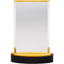 Classic Acrylic Award For Corporate Ceremony, Gold Base