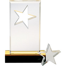 SuperStar Acrylic Award with Removeable Paperweight- 6 1/2""