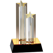 Double Star Acrylic Award