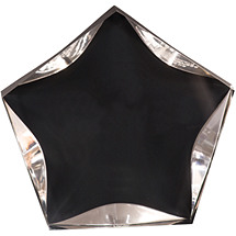 "5"" Luminary Star Award - Clear with Black Plate"