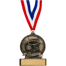 "2 3/4"" Basketball Cast Medal"