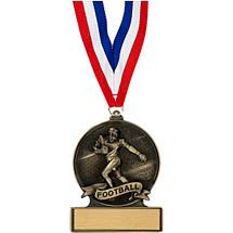 """2 3/4"""" Football Cast Medal"""