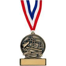 """2 3/4"""" Gymnastics Cast Medal"""