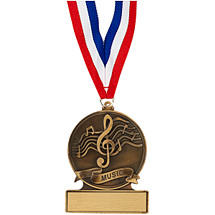 "2 3/4"" Music Cast Medal"