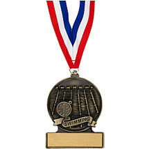 "2 3/4"" Swimming Cast Medal"