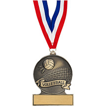 "2 3/4"" Volleyball Cast Medal"